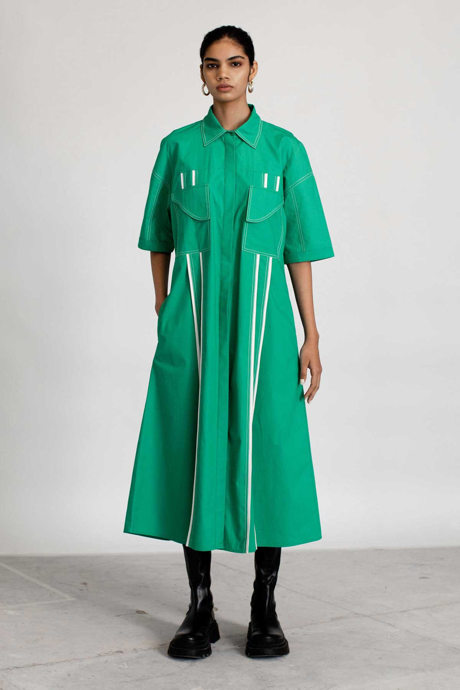 Column Dress- Green