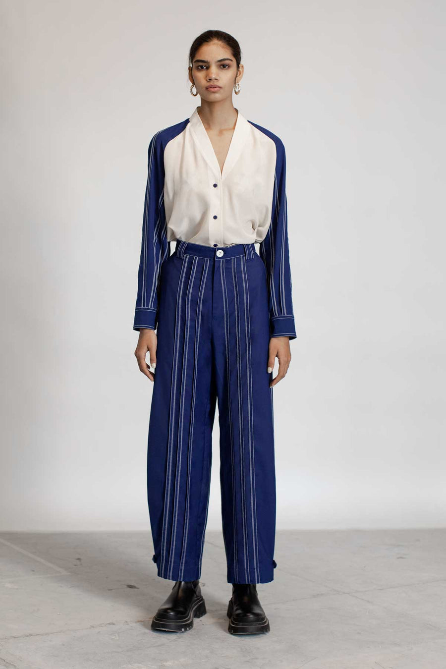 Tuck Pleats Trousers