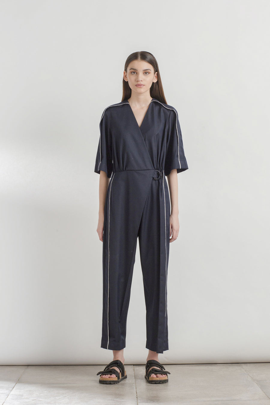 Outline Overlap Jumpsuit