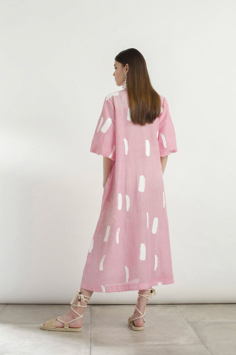 Linen Brushstroke Dress