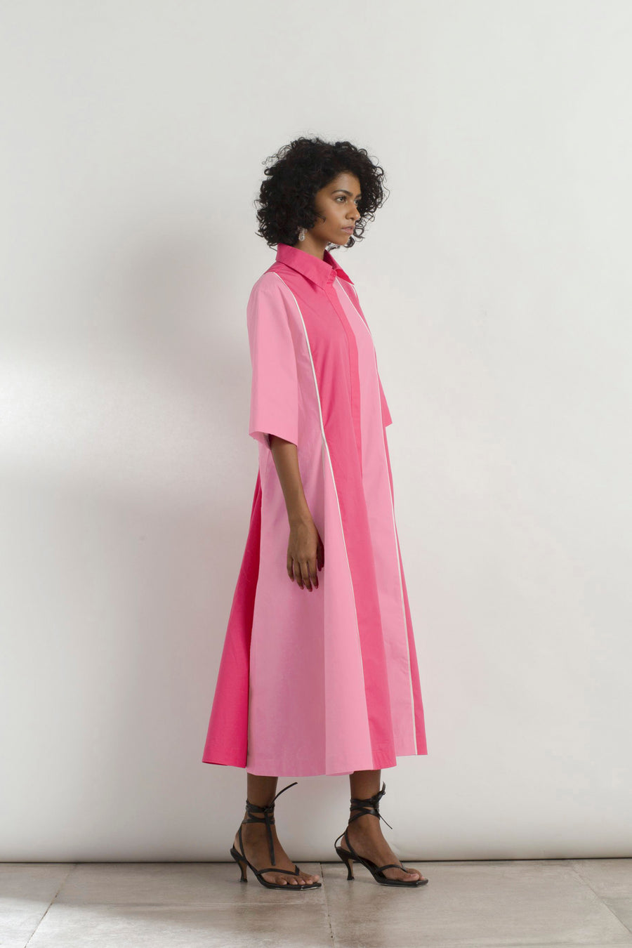 Pink Colour Blocked Dress