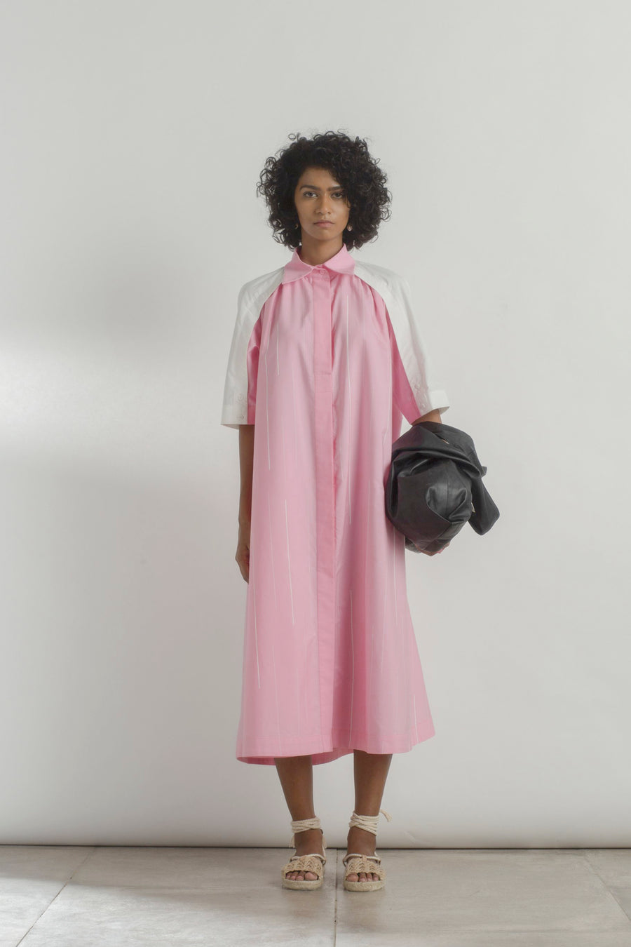 Paneled Rain Shirt Dress