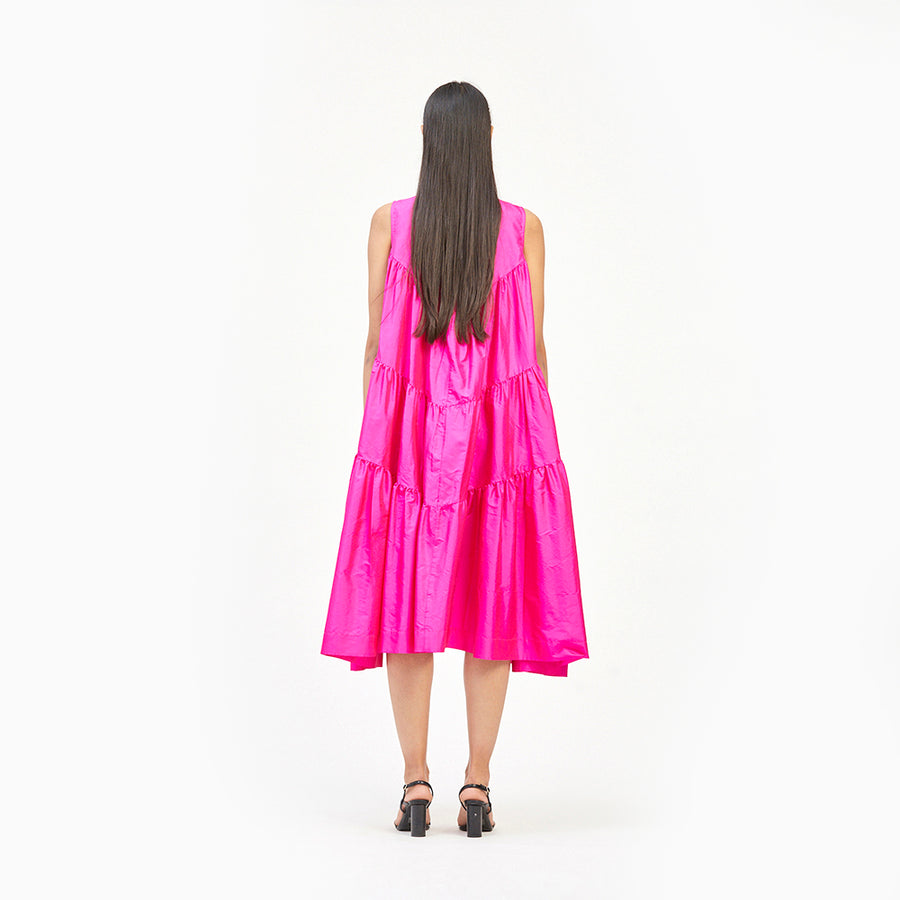 Cascade Silk Dress