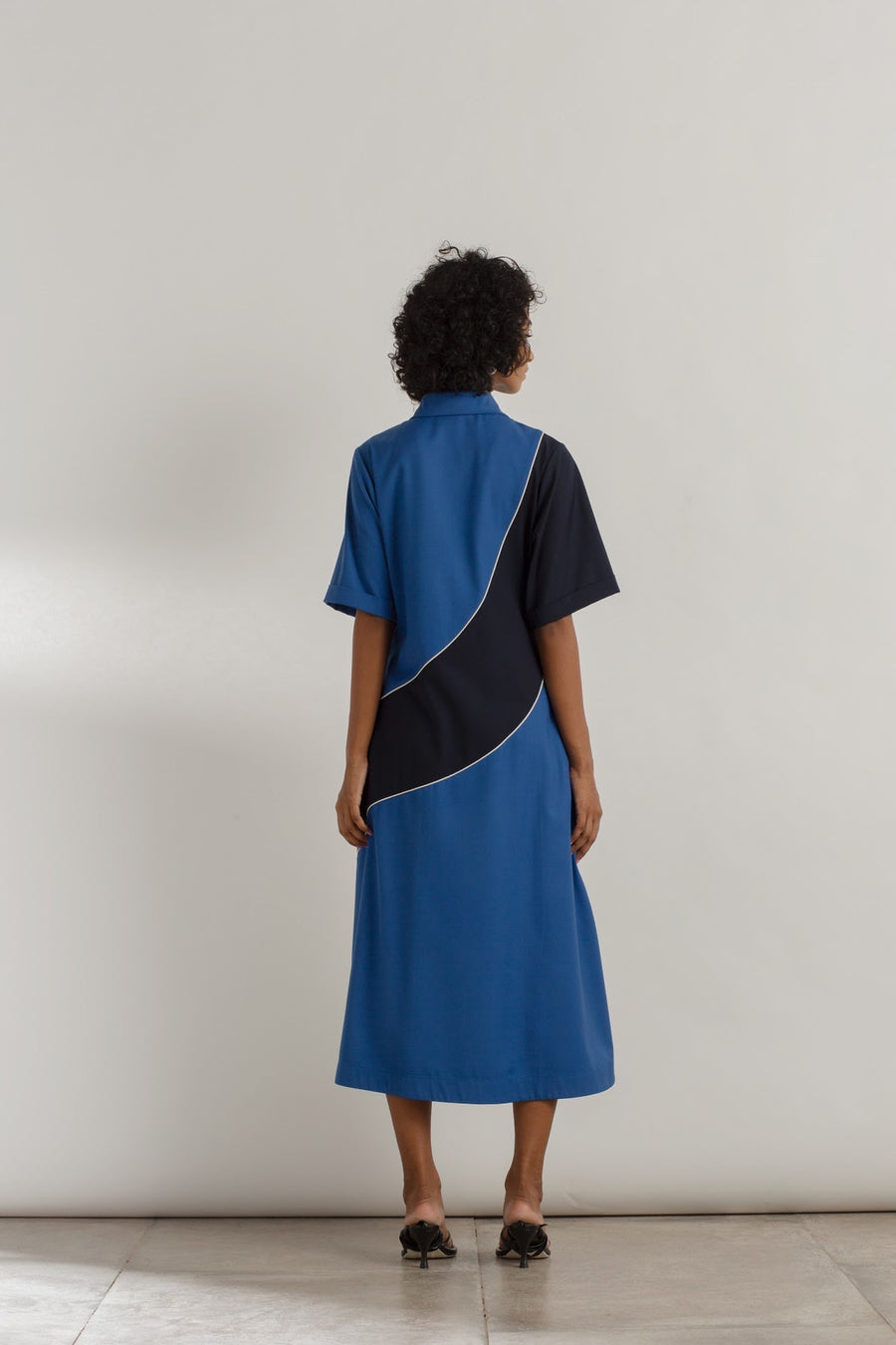 Colour Blocked Wave Dress