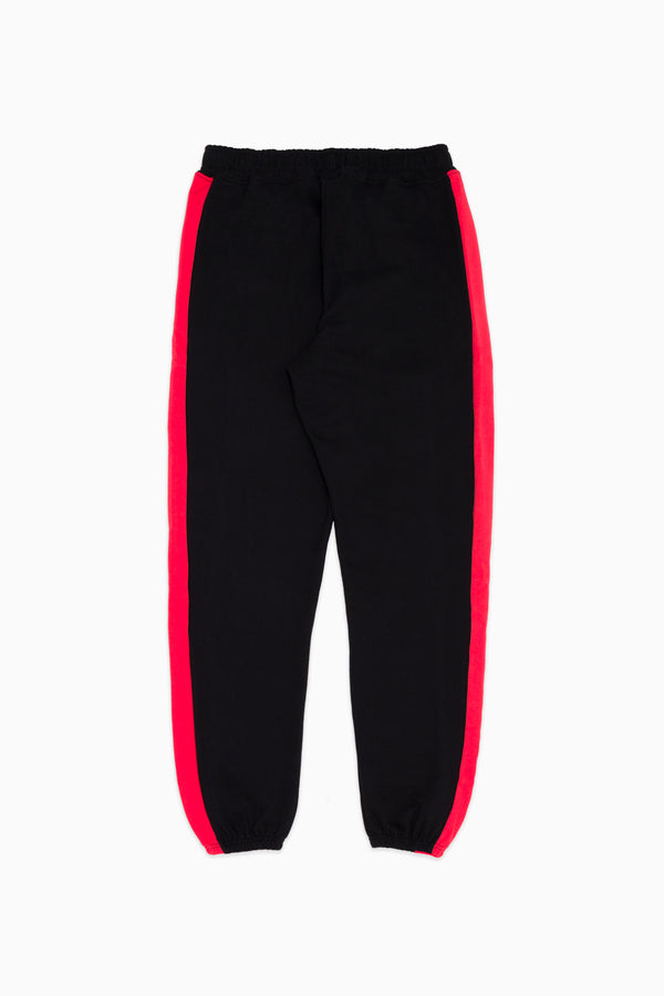 Black & Red Athletic Track Pants