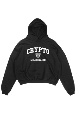 BLACK CRYPTO MILLI HOODIE - 420gsm Organic & Recycled cotton