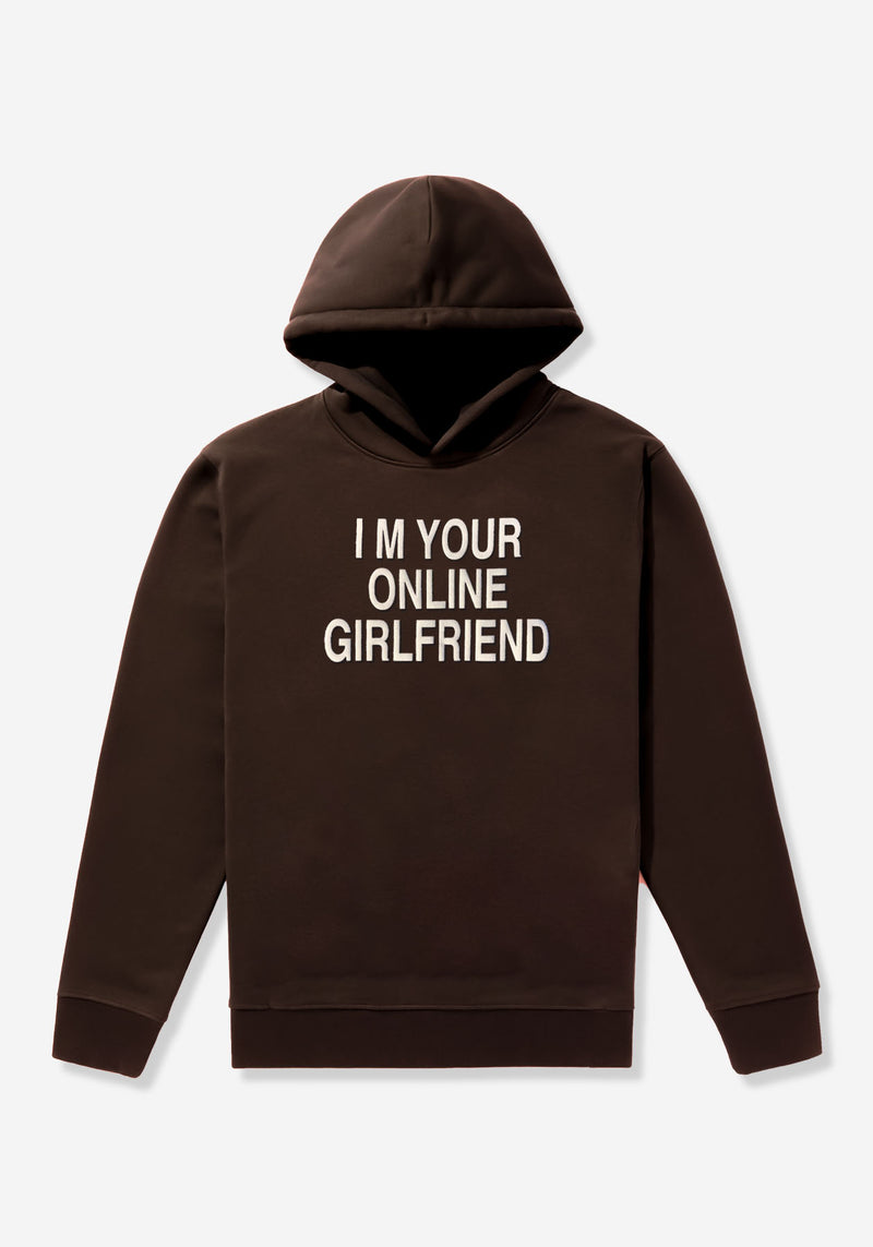 Coffee Brown Online Girlfriend Hoodie - 420gsm Organic & Recycled cotton