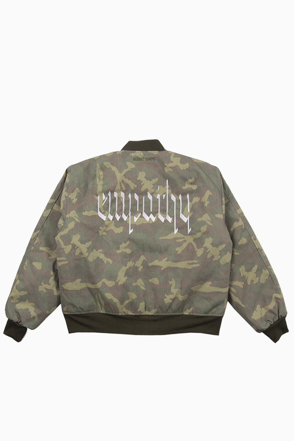 Faded Insulated Camo Empathy Bomber Jacket