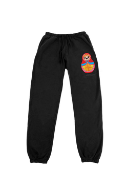 BLACK MATROSKA TRACK PANTS - 420gsm Organic & Recycled cotton