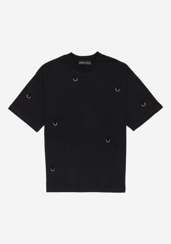 Black D-ring Hardware Fit Large T-shirt