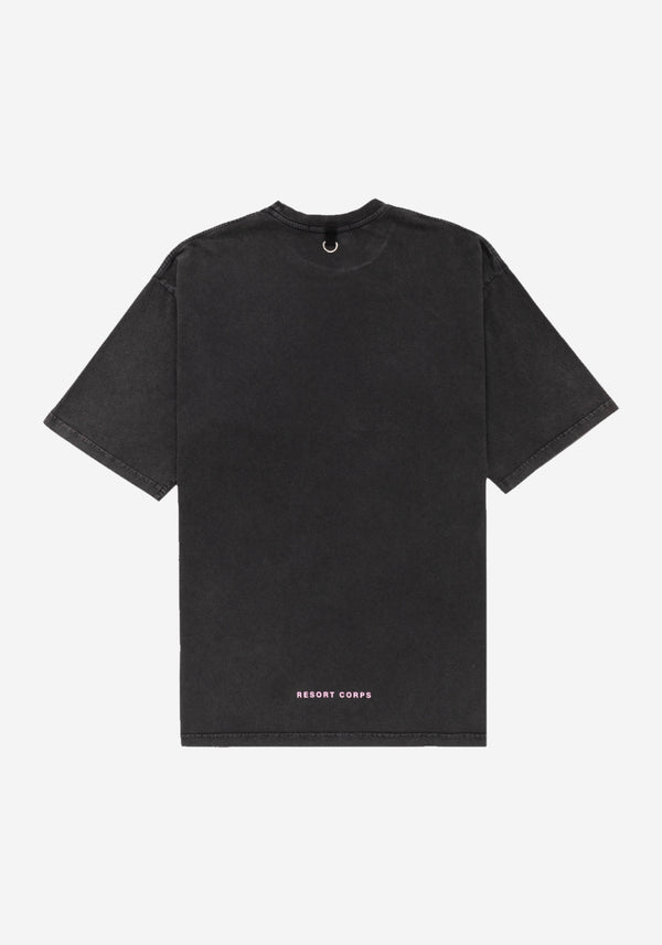 Black Stonewash Future Empathy Fit Large T-shirt