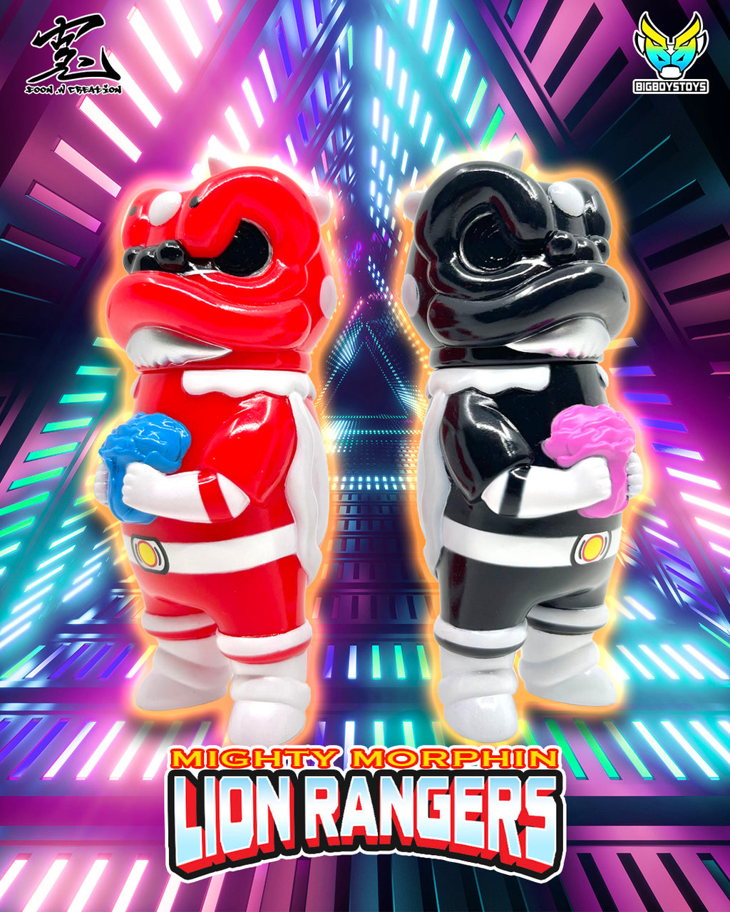 Lion Rangers (Red & Black Rangers set)