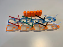 Load image into Gallery viewer, Opti Team Race Kit with 8 Boats and 6 Buoys with magnets