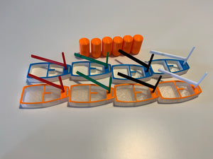 Opti Team Race Kit with 8 Boats and 6 Buoys with magnets