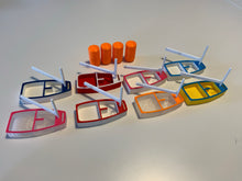 Load image into Gallery viewer, Opti Coach Kit with 8 Boats in Different Colours and 4 Buoys with embedded magnets