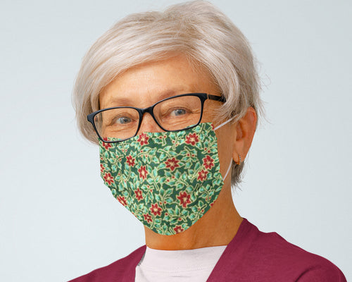 senior-woman-with-christmas-pattern-reusable-face-mask
