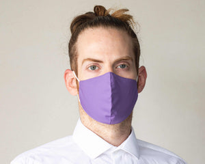 Slim Fit Purple Face Mask