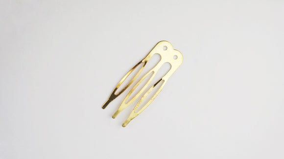 Hair comb small - Gold
