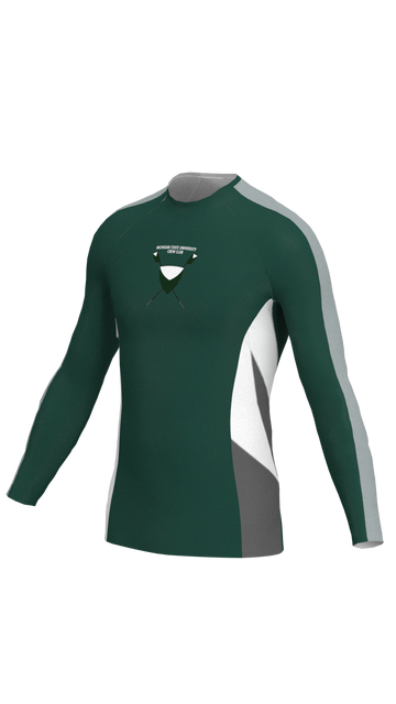 Michigan State Mens Green Long Sleeve Baselayer