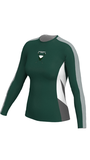 Michigan State Womens Green Long Sleeve Baselayer