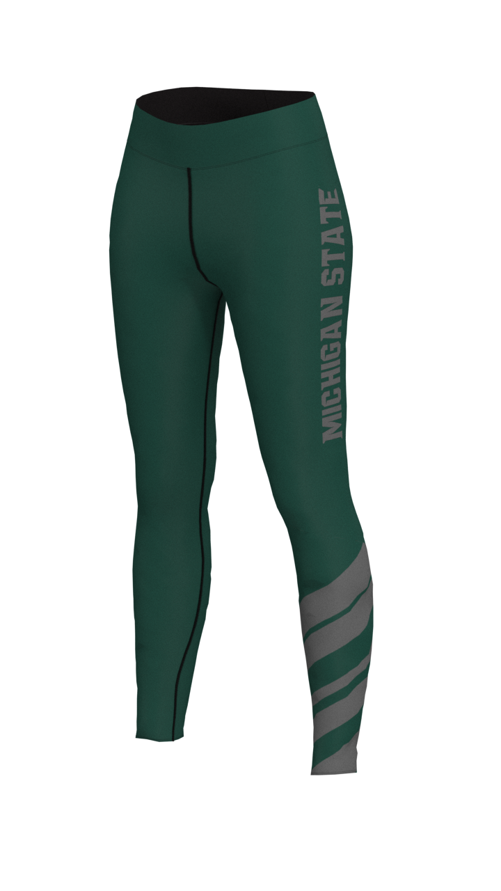 Michigan State Womens Stripe Leggings
