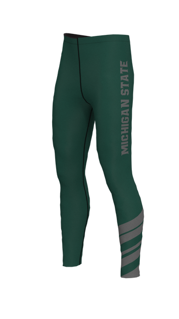 Michigan State Mens Stripe Leggings