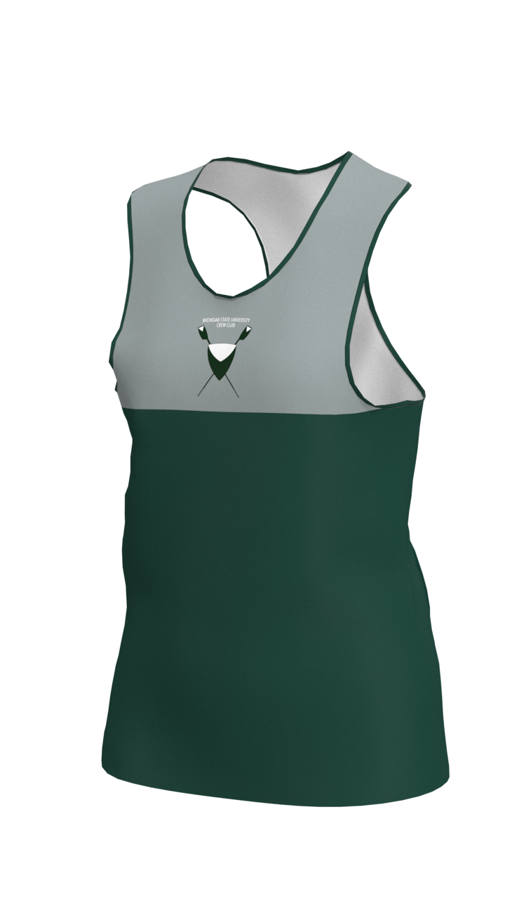 Michigan State Womens Grey & Green Vest