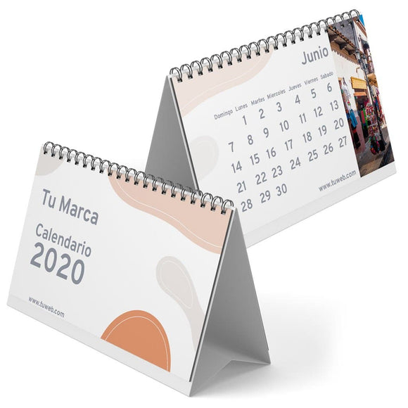 calendarios impresos color promocionales personalizados media carta
