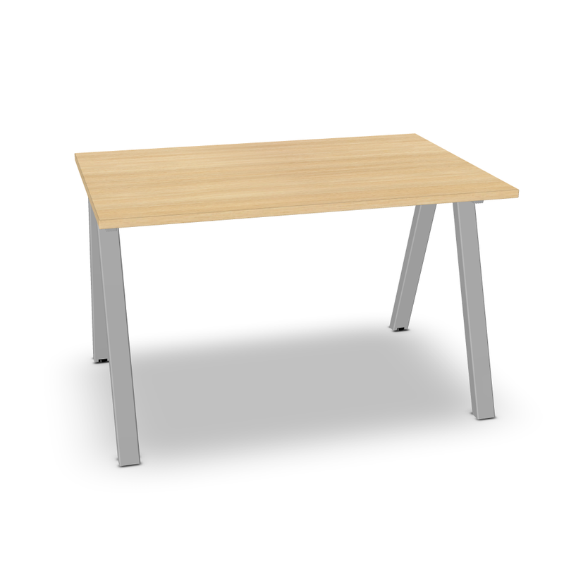 Table de bureau rectangulaire 4Most L. 120 x P. 80 cmc sur pieds arche inclinés rectangulaires fixes (4841730474121)