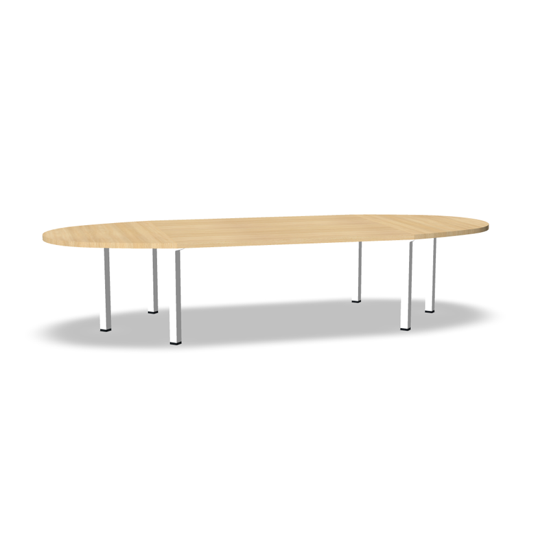 Modulo table ovale Ep 38mm pieds métal carré 12 Pers (4845481820297)