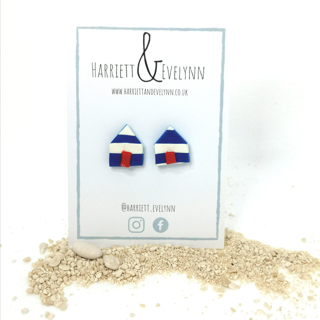 Beach Hut Stud Earrings