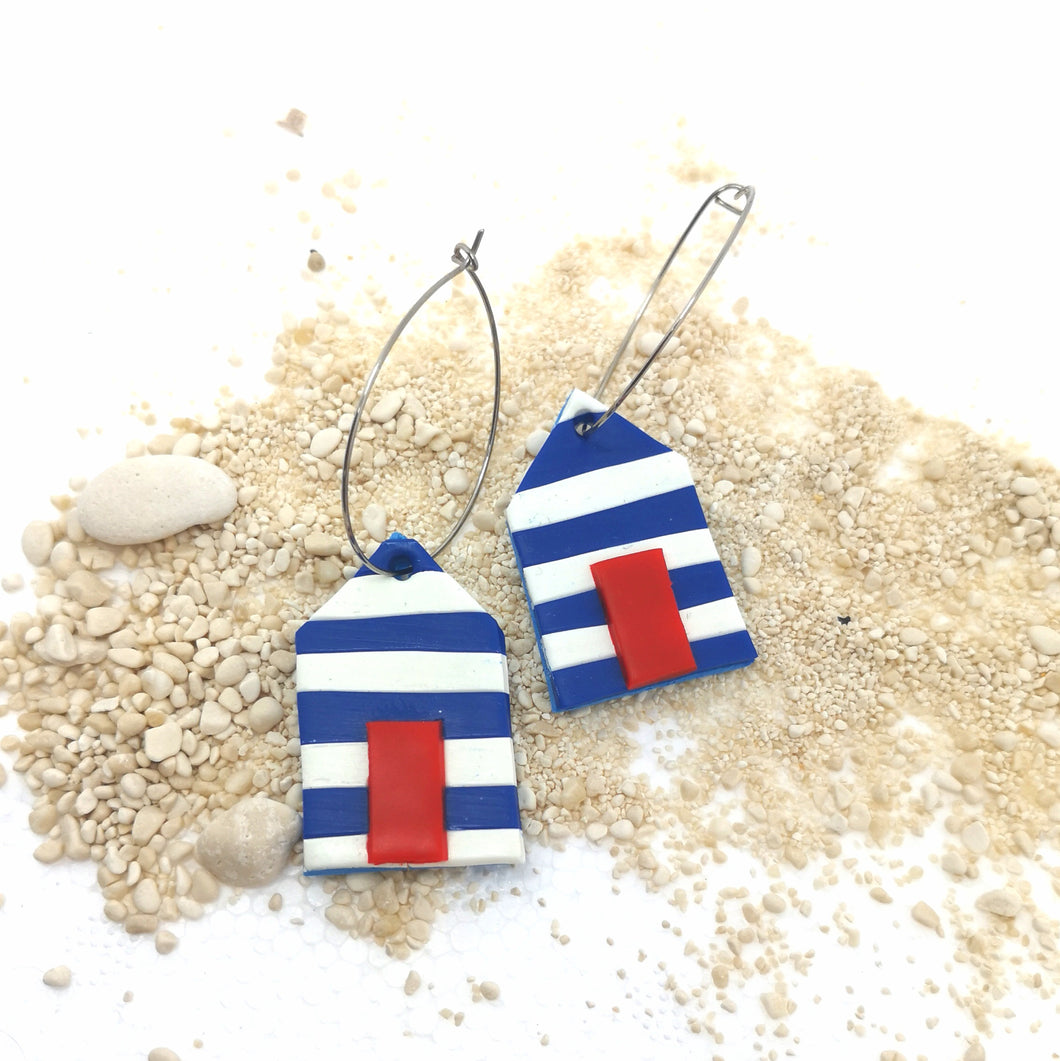Beach Hut Hoop Earrings