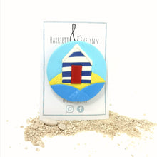 Load image into Gallery viewer, Large Beach Hut Brooch