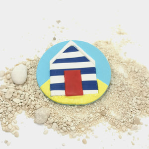 Medium Beach Hut Brooch
