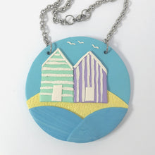Load image into Gallery viewer, Pastel Beach Hut Necklace