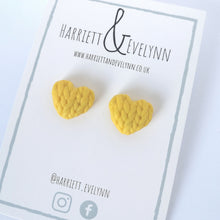 Load image into Gallery viewer, Buttercup Knitted Hearts Earrings