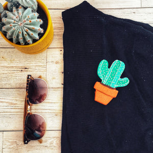 Nigel The Cactus Brooch