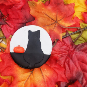 Black Cat & Pumpkin Brooch