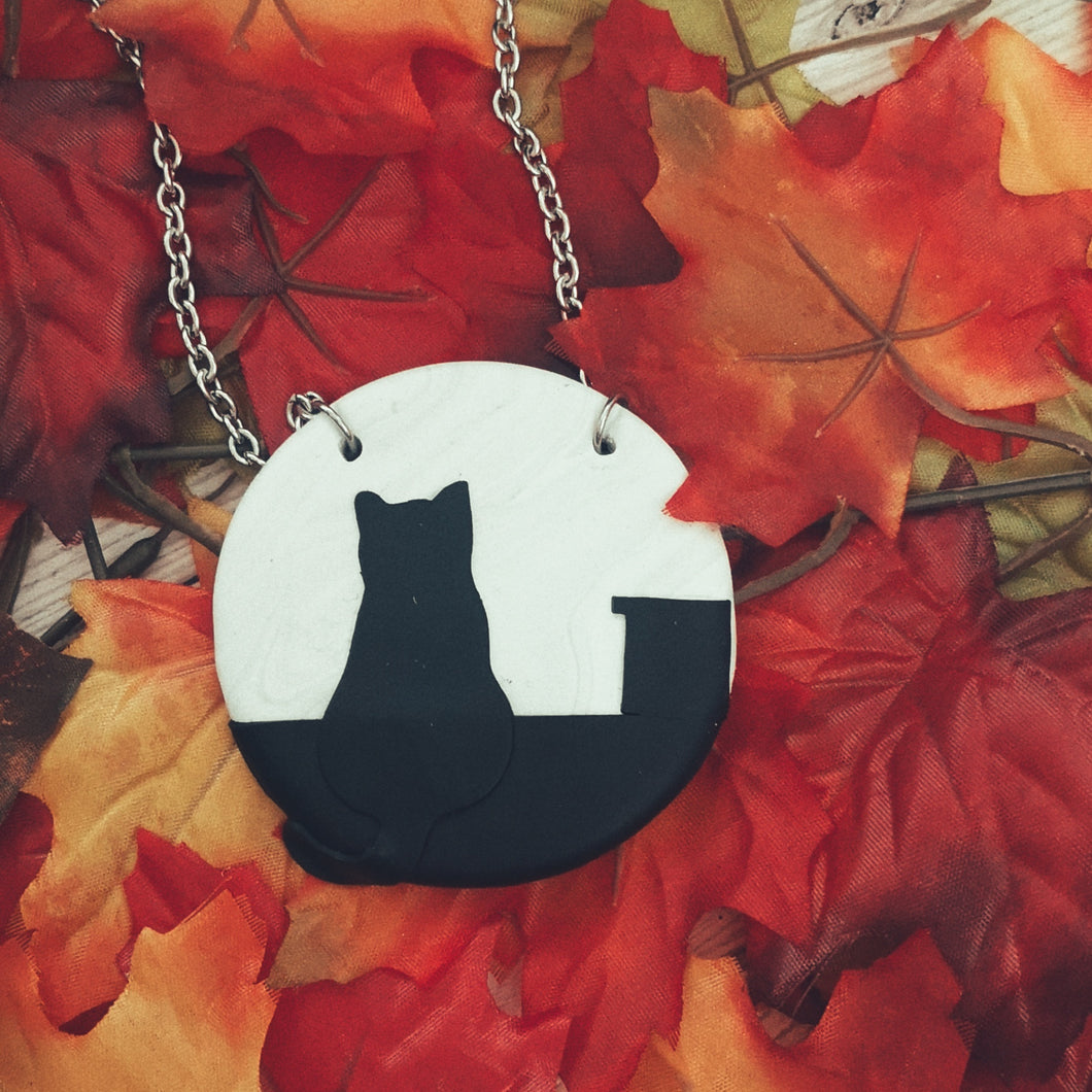 Roof Top Cat Necklace
