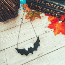 Load image into Gallery viewer, Full Moon Bat Necklace (Medium)