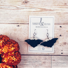 Load image into Gallery viewer, Moonstruck Bat Drop Earrings