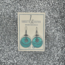 Load image into Gallery viewer, Large Round Snowflake Drop Earrings