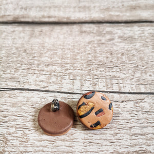 Round Leopard Print Stud Earrings