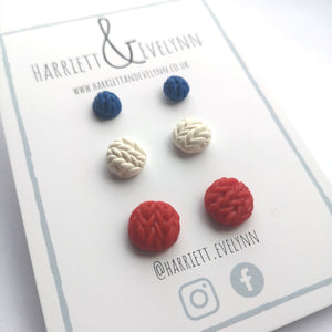 Red White & Blue Button Set