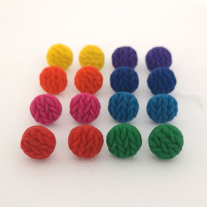 Rainbow Knitted Button Collection