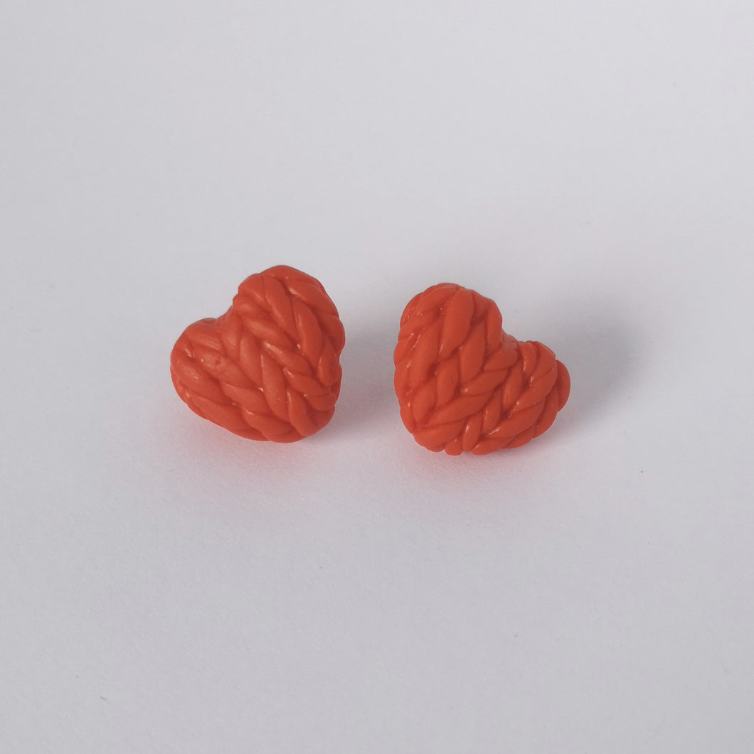Tigerlily Knitted Hearts Earrings