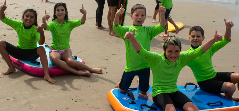 Sandy Feet Initiative Campers Test Tandem Boogie AIR Bodyboard