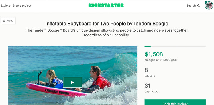 Tandem Boogie Launches Kickstarter. - Early Bird Deals!