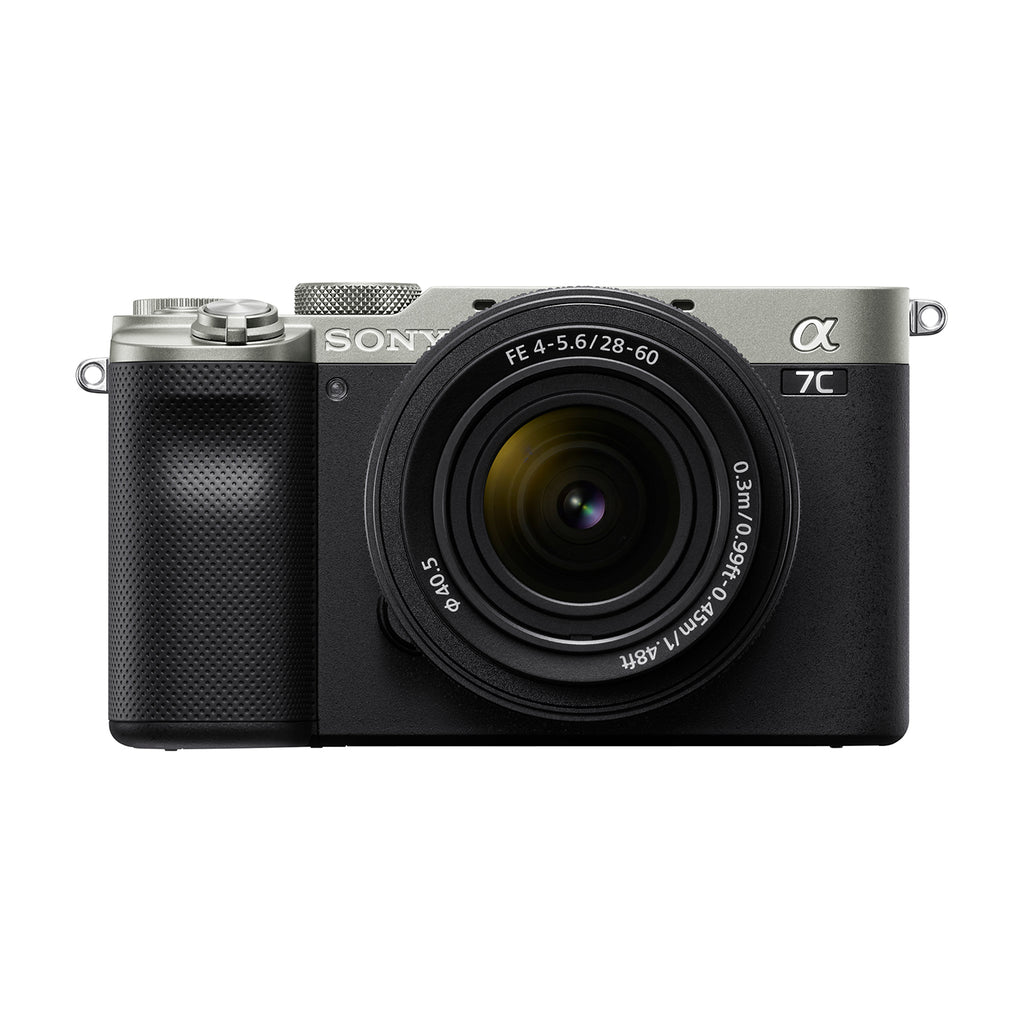 Sony Alpha ILCE-7CL Compact Full-Frame  Mirrorless Camera Body with  28-60mm Zoom Lens (4K, Flip-Screen, Content creation, Real-time Eye AF) (Silver Colour)