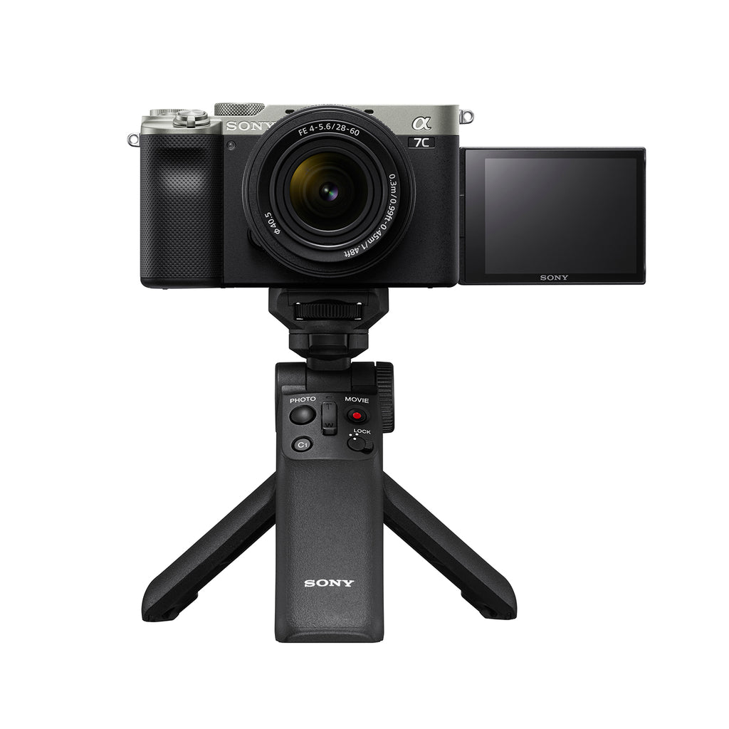 Sony Alpha ILCE-7C Compact Full-Frame  Mirrorless Camera Body (4K, Flip-Screen, Content creation, Real-time Eye AF) (Silver Colour)